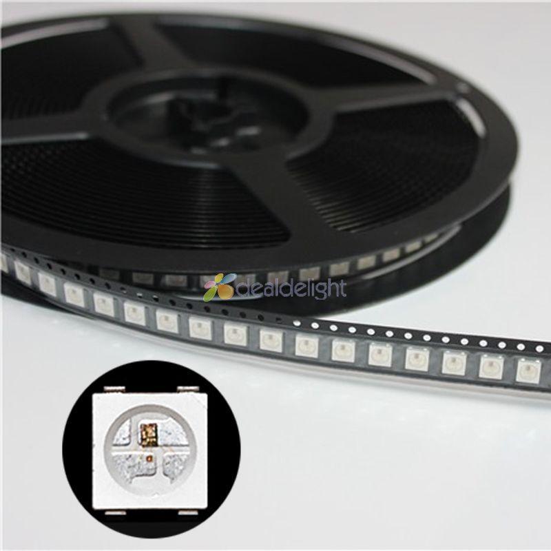 1000pcs/Lot! DC5V WS2812B 4Pins 5050 SMD with Built-in WS2811 IC Individually Addressable Digital RGB LED Chip Emitter<br>