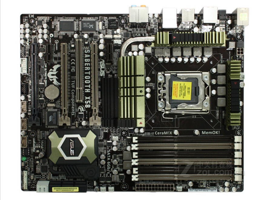 original motherboard for ASUS SaberTooth X58 LGA 1366 DDR3 for Core i7 Extreme/Core i7 24GB Desktop motherboard Free shipping(China (Mainland))