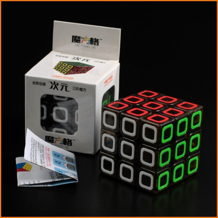 QiYi Dimension 3x3 Transparent Black Magic cube 3x3x3 Speed puzzle Educational Toy Special Toys Concept Edition Birthday Gift(China (Mainland))