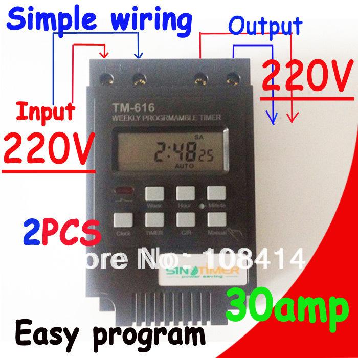 Гаджет  30AMP 7 Days Programmable Digital TIMER SWITCH Relay Control 220V Din Rail Mount, FREE SHIPPING None Электротехническое оборудование и материалы