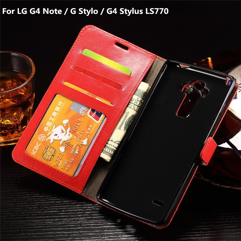 For LG G4 Stylus LS770 / G Stylo H634 / G4 Note Luxury Wallet PU Leather Case Cover For LG LS 770 With Card Frame Stand Holder(China (Mainland))