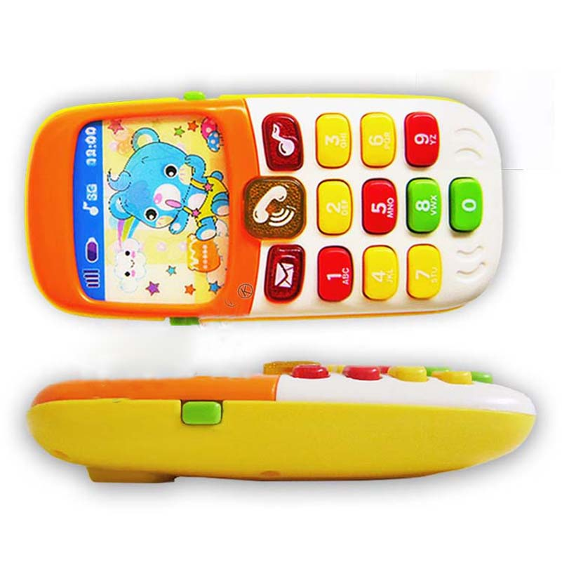 Electronic Toy Phone Musical Mini Cute Children Phone Toy Early Education Cartoon Mobile Phone Telephone Cellphone Baby Toys(China (Mainland))