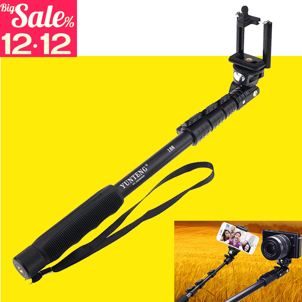 New Top Quality YunTeng 188 Portable Handheld Telescopic Monopod Tripod For Cameras Cell Phones + Holder + Mini Tripod Hote sale<br><br>Aliexpress