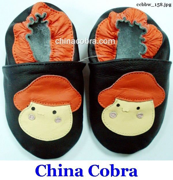 free shipping genuine leather baby pre walk shoes(China (Mainland))
