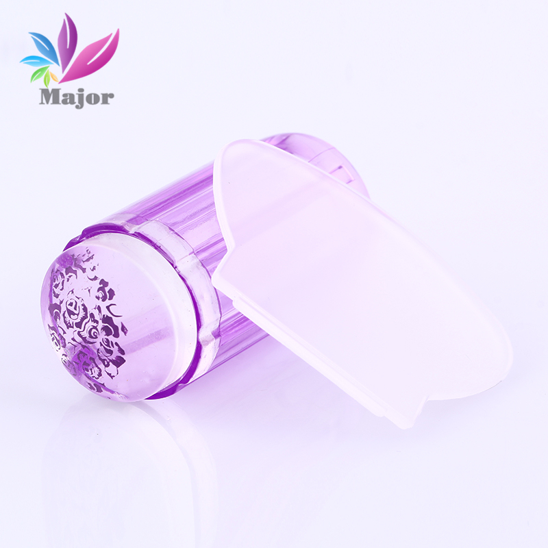 2.8CM Jelly stamper 2016New Products Transparent Nail Stamp Scraper Stamper Transfer Stamping Plate(China (Mainland))