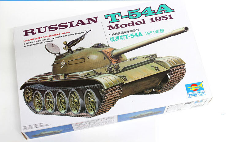 Hobby toy Military tank model 1/35 scale Soviet Russian Army T-54A medium tank plastic model kit best gift for boy(China (Mainland))