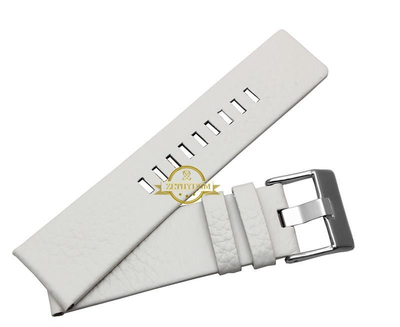 Genuine leather bracelet watchband womens mens watch strap wristwatches band 22 24 26 28 30mm white color for DZ1405 DZ4323