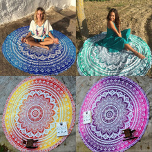 Buy Round Mandala Tapestry Indian Wall Hanging Beach Throw Towel Yoga Mat Picnic Blanket Shawl Bohemia Decor Carpet Rug Tapestry for $8.53 in AliExpress store