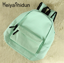 Buy Meiyashidun new canvas women backpack pretty daily school bag candy color back pack college schoolbag teenager Girls mochila for $16.51 in AliExpress store