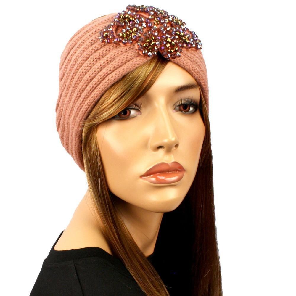 Infinity Beaded Flower Jewel Knit Headband Hairband Winter HeadWrap(China (Mainland))