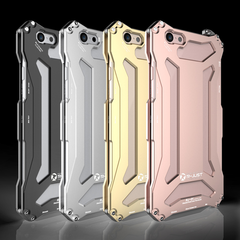 6Plus R-Just Powerful Gundam Premium ShockProof Metal Case for Apple iPhone SE 5 5S 6 6S Plus Aluminum Phone Cover Protection(China (Mainland))
