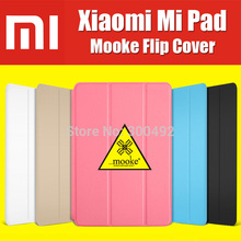 Mooke original matte for xiaomi mipad leather case cover flip for xiaomi mi pad tablet pc auto sleep with screen protector