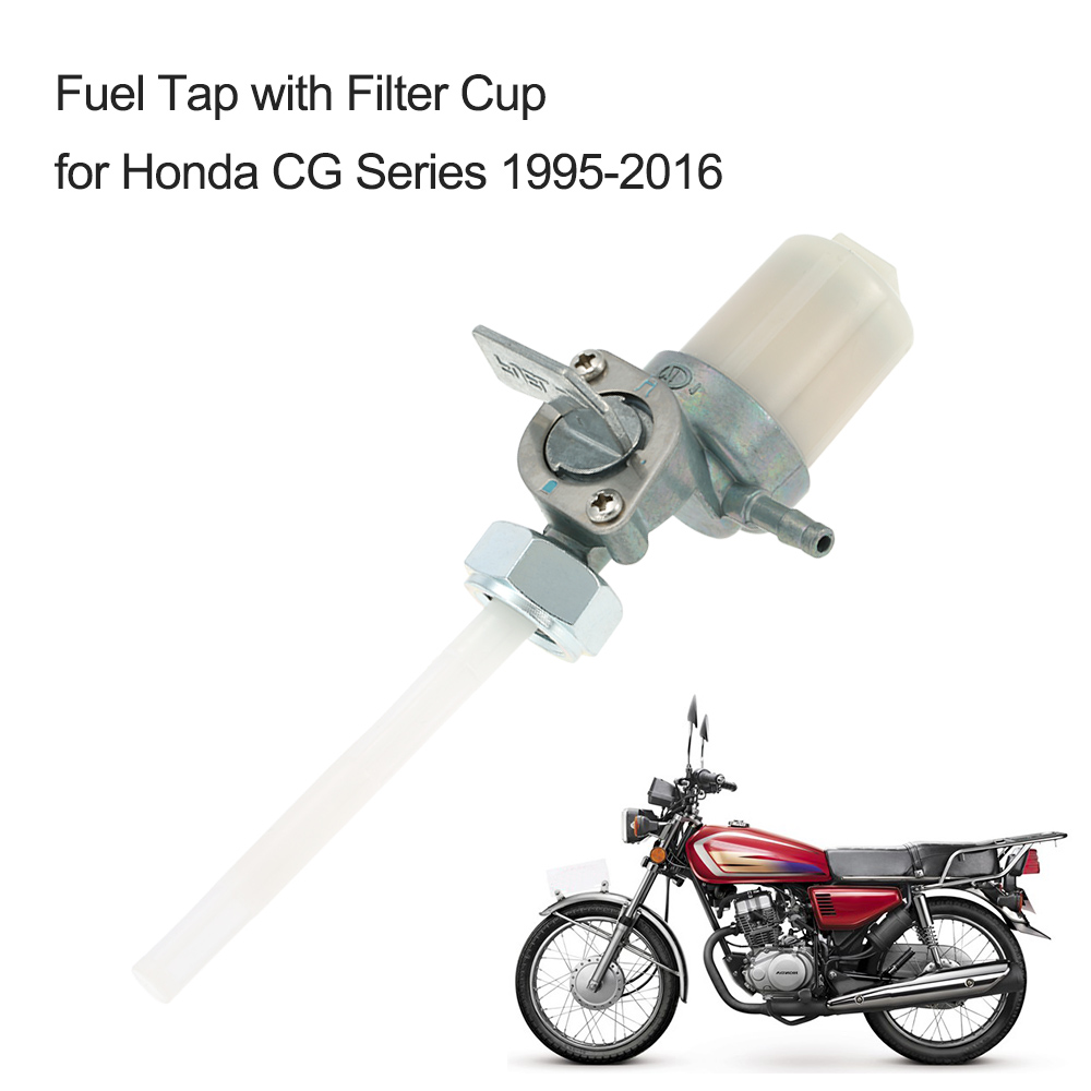 Motorcycle Fuel Tap Switch Petcock with Filter Cup for Honda CG Series 1995-2016 motorcycle accessories(China (Mainland))