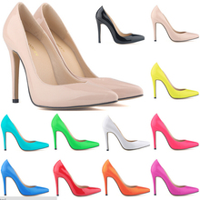 Wholesale 1000pairs/lot 2015 New Fashion Party Pumps Thin Heels Pointed Pumps Fashion PU Patent Leather Womens Pumps(China (Mainland))