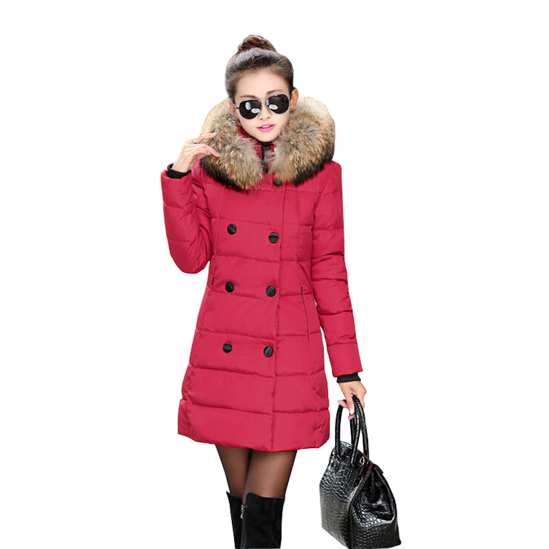 Winter Jacket Women 2015 Fashion New Parka Korean Thick Women Winter Coats Long Female Down Coat Fur Hoody Plus Size 4XL MM0239Одежда и ак�е��уары<br><br><br>Aliexpress