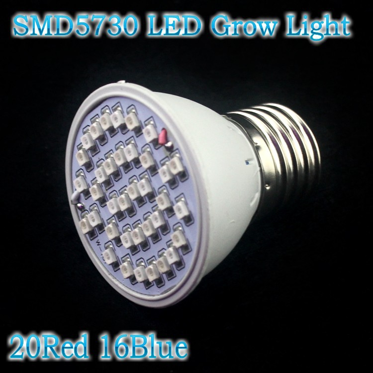 10X SMD5730 3W LED Grow Light Bulb E27 Flowering Plant Hydroponic system Garden Lamp ac85-265v 20Red:16Blue Led Grow Lamp Lights(China (Mainland))