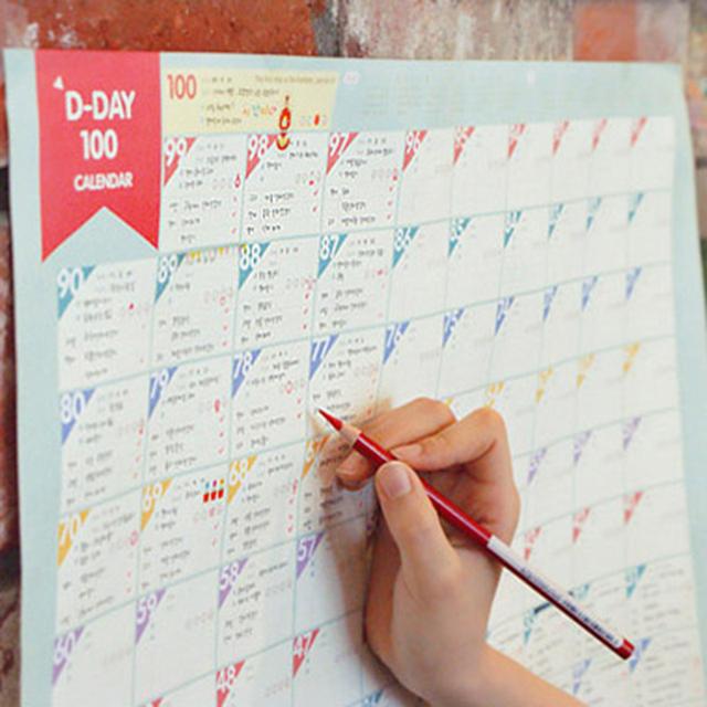 Superdeal 100 Дневный Обратный Отсчет Календарь График Обучения Периодические Планирования Планировщик Настольный Подарок Для Детей Изучению