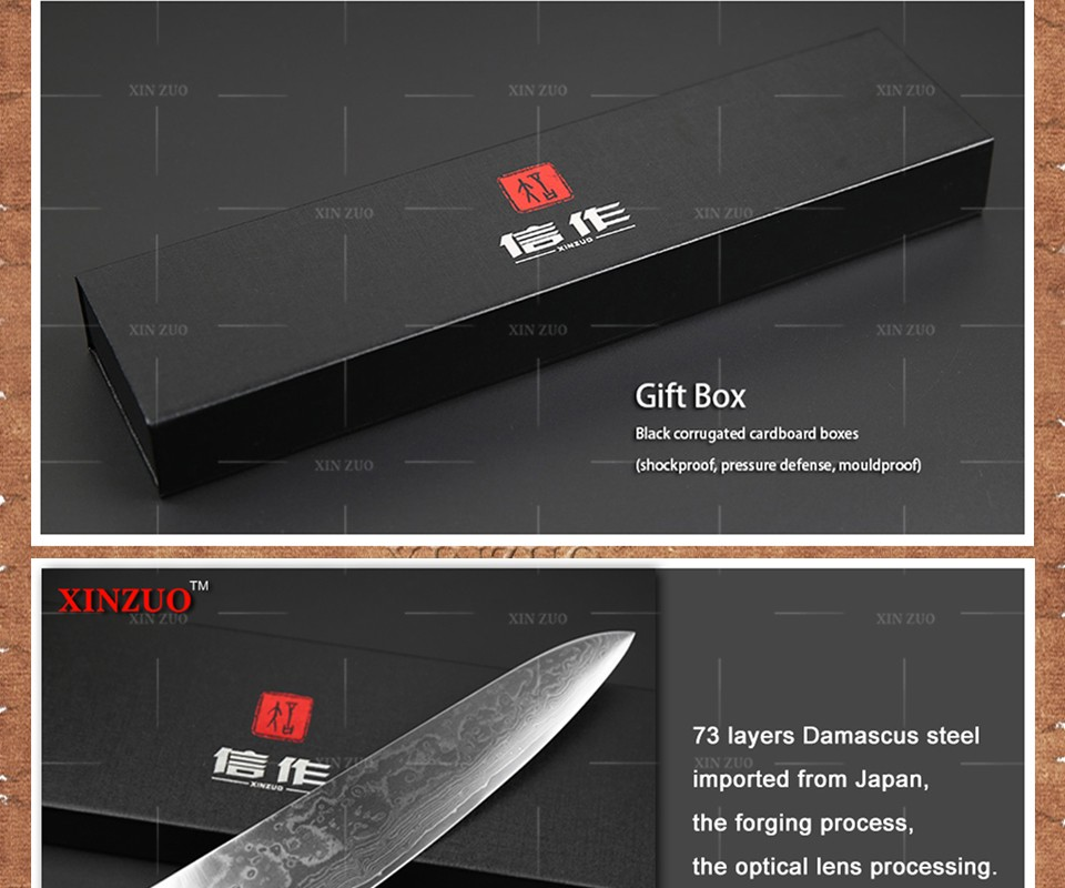 Buy XINZUO 3 pcs kitchen knives set 73 layer Damascus steel kitchen knife Japanese VG10 chef utility knife wood handle free shipping cheap