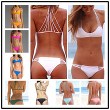 Tankini Swimsuits Women Tankini 2016 New Rope Sexy Lady Bikini Split Explosion Of Foreign Trade Small Fresh Swimwear Swimsuit