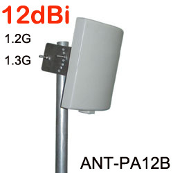 1.2G 1.3G Patch Antenna Directional 12dBi High Gain 1100-1300MHz Microwave Wireless Panel(China (Mainland))
