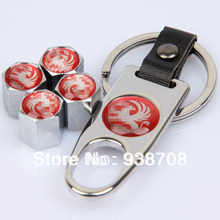 Stainless Steel New Hot Sale Car Wheel Tire Valve Caps with Mini Wrench & Keychain Fit for Vauxhall(China (Mainland))