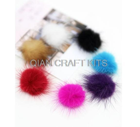80pcs DIY mini Genuine Mink Fur ball Furry Ball for Mobile Phone Tag, Handbag Charm, Keychain (20-30mm)(China (Mainland))