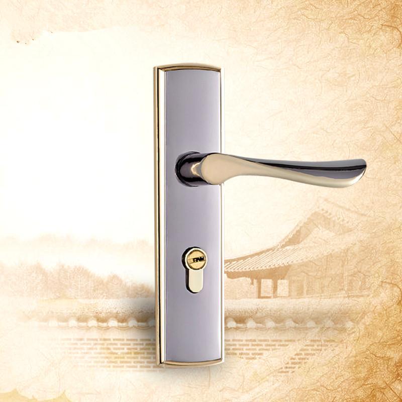 Zinc Alloy Hardware Furniture Door Lock Classical Handles Door For Interior Doors Bedroom Wooden