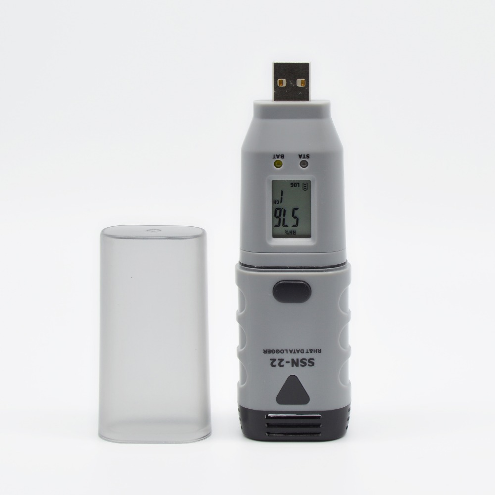 Recording Thermometers Data Logger : Ssn digital lcd display usb temperature humitity tester