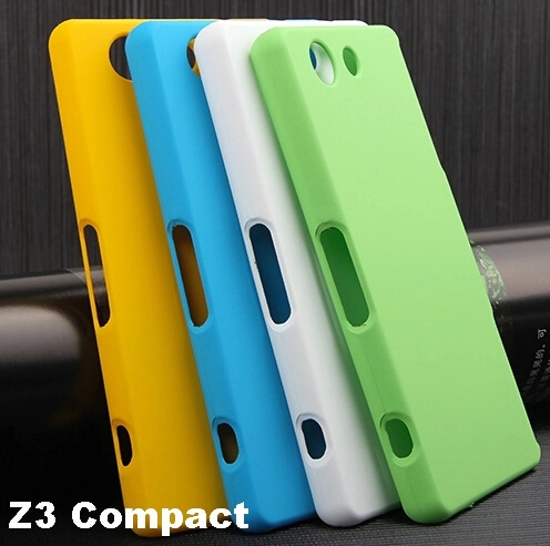 CZ Soft Hand Feel Hybrid Hard Case For 2014 Sony Xperia Z3 Compact Matte Back Cover Skin + D5803 D5833 Screen Protector(China (Mainland))