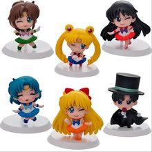Mifen Craft 2016 Anime Cartoon 2nd Generation Sailor Moon Mars Jupiter Venus Mercury Q Version PVC Action Figure Model Toys Doll