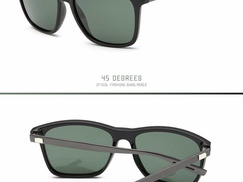 ZFYCOL Mens Sunglasses Brand Designer Retro Aluminum+PC Mirror Polarized Lens Vintage Eyewear Driver Sun Glasses For Men/Women