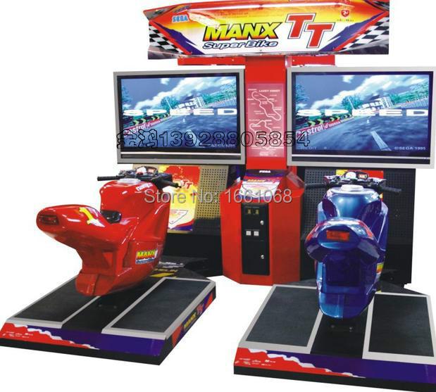 Racing game ! Coin operated arcade game machine,simulate game machine,Amusement game machine(MANX TT)(China (Mainland))