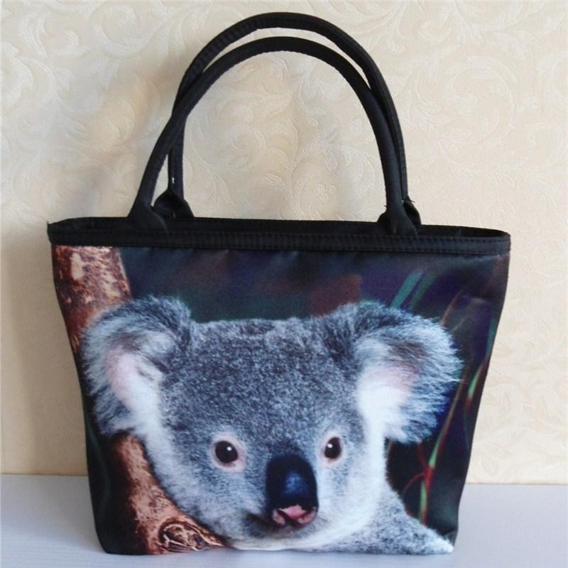 Animal Pattern Handbag 2015 New Design Fashion Zipper Women Canvas Handbags Bolso Mujer Anti-rain Not Fade Bags Sac Femme(China (Mainland))