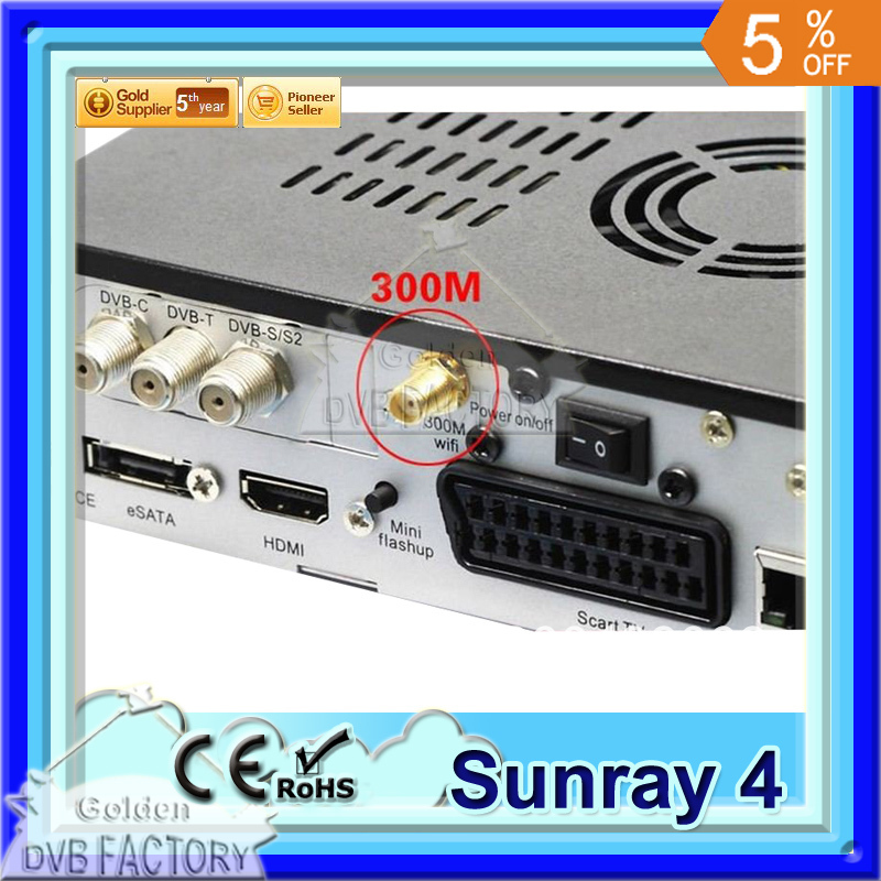 2012 free shipping sunray4 800 se hd SR4 support wifi sr4 800hd se 3 tuner in 1 HD Linux Sunray Satellite Receiver wifi(1pc SR4)(China (Mainland))