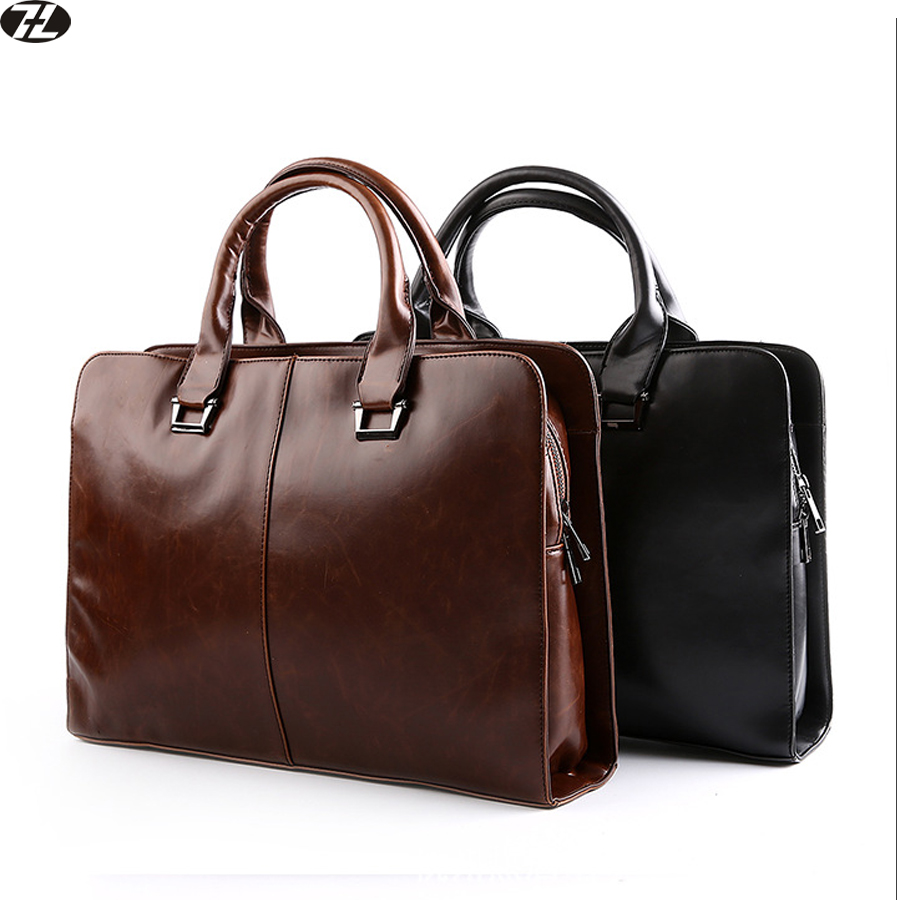 man handbag carzy horse leather tote brand business men messenger bags vintage men crossbody shoulder Laptop bag briefcase(China (Mainland))