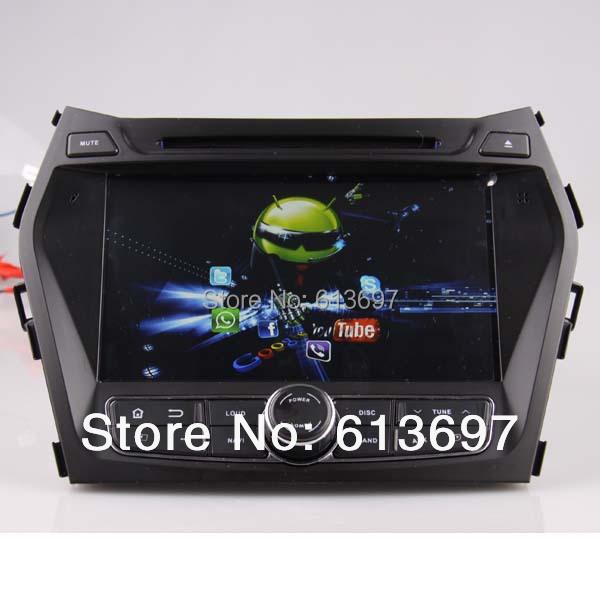 Pure Android 4.4.4 Capacitive Screen CPU: Rockchip 3066 Cortex A9 dual-core Car DVD For Hyundai IX45 Santa fe 2013 With GPS(China (Mainland))