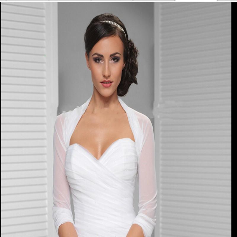 romantique nouvelle conception de marie ivoire blanc tulle bolero bolro de marie veste taille personnalise de mariage access - Bolro Mariage Ivoire