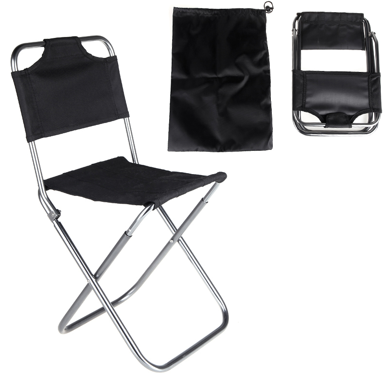 Hot Sale New 2015 Portable Folding Chair Aluminum Camping Fishing Chair Cadeira with Backrest Carry Bag Black AT6703 free shippi(China (Mainland))