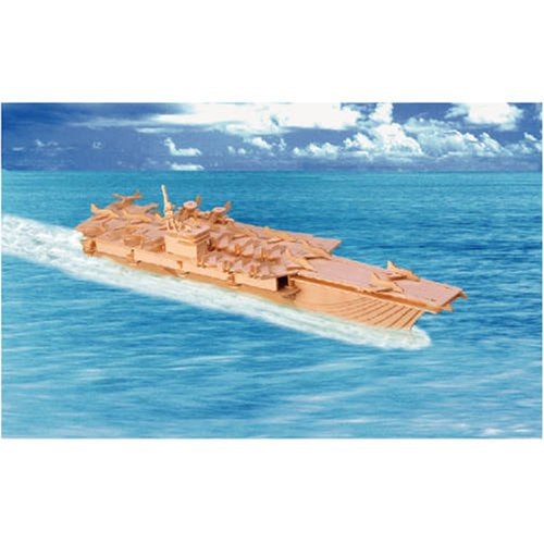 New Cool Aircraft Carrier 3Dimensional Wooden Toy Model Kit for Kids/Children US Fast Shipping(China (Mainland))