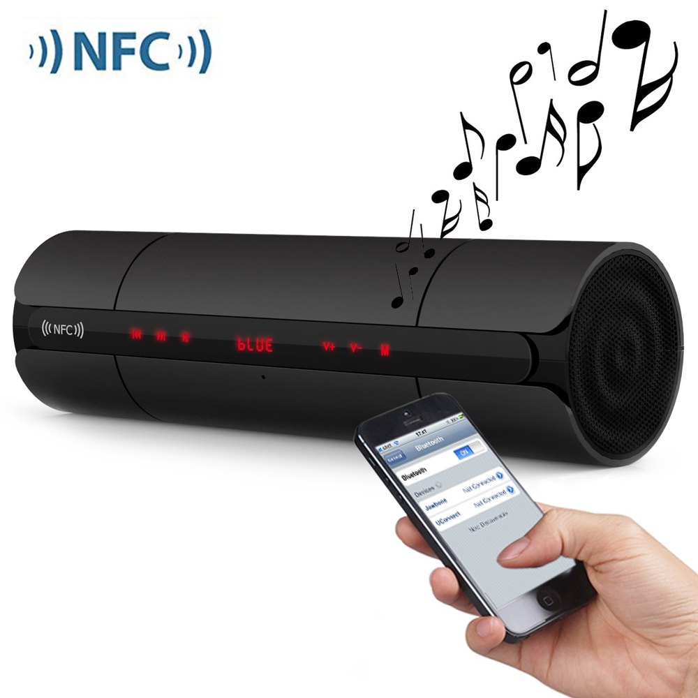 NFC KR8800 Multifunctional Mini Portable Wireles FM HIFI Bluetooth Speaker Stereo Loudspeakers Bass Sound Box for IPhone Android(China (Mainland))