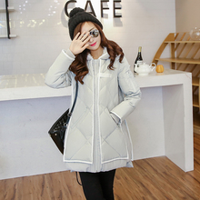New 2016 Women Down Coat Winter Fashion Fur Lining Hood Coat Plus Size Goose Down Parka Jacket  Medium-long Outwear for Female