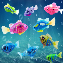 1 Pcs Electronic Lighting Swimming LED Light Fish Kid baby Toys For Baby Bathing Water Toys(China (Mainland))