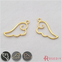 Buy  (29170-G)15PCS 27*14MM Gold Color Plated Zinc Alloy Wing Charms Diy Handmade Jewelry Findings Accessories Wholesale for $1.15 in AliExpress store