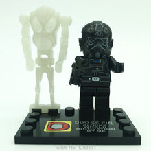 2 Star Wars 7 Force Awakens black Clone soldiers minifigures White Skeletons building blocks toys children - Blocks Toys Flagship Store store