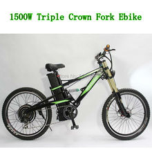 E-Motorcycle Style Super Mountain E-bike! 48V 1500W E-bike / 48V 18Ah Li-ion Bottom Discharge Battery and Zoom Triple Crown Fork(China (Mainland))