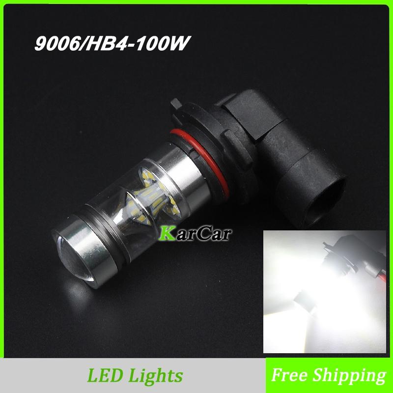 New Arrivals 100W LED Fog Lights 9006 850LM High Power LED Daytime Lights, 12V HB4 Car Headlight 360 degree White(China (Mainland))