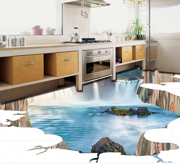 China very low and cheap price background 3D drawing ceramic tile floor(China (Mainland))
