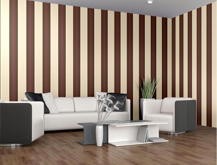 Pareti A Strisce Beige : Pareti tinteggiate moderne camera da letto eccezionale