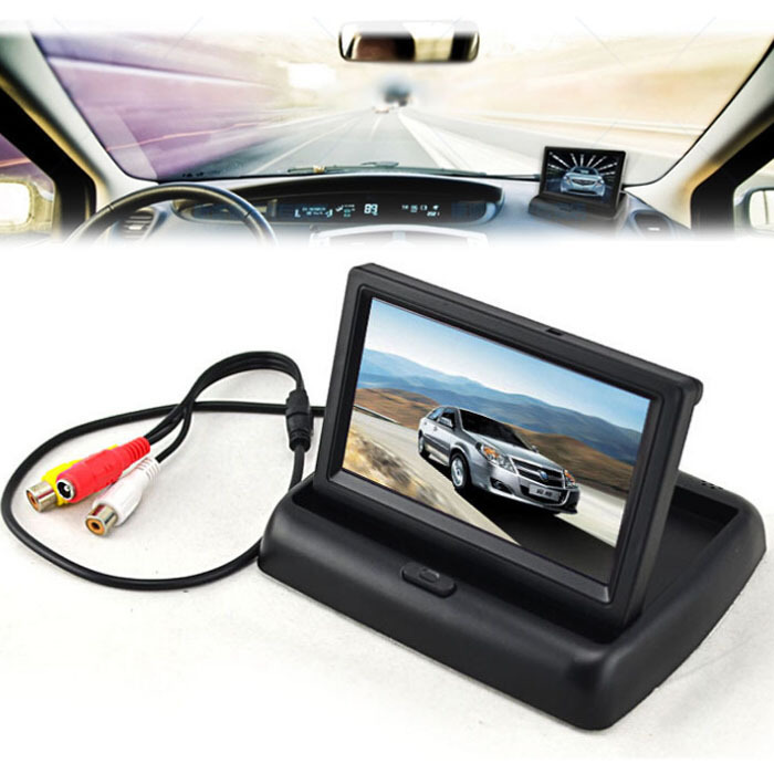 """4.3"""" TFT LCD Foldable Monitor For Car Reverse Rear View System Camera GPS DVD(China (Mainland))"""