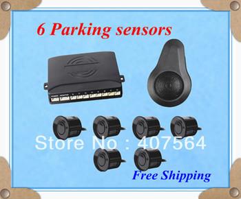 Free shipping New 6 Reverse Car parking sensor Backup Radar Alarm